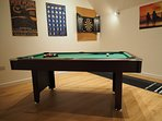 Games room pool table