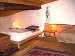 Large character bedroom, kingsize bed, beamed ceiling. Opens onto sun terrace.