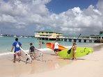 Stand up paddling 30 min drive at Pebbles Beach