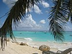Sandy Beach near Crystal Waters restaurant (great food ) and bar. Spend day here,  swim with turtles