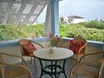 We call this our Mermaid Cafe! Gather on this verandah enjoy the view and the fabulous ocean breezes