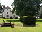 The Old Rectory is next door. The gardens are there to be explored and enjoyed.
