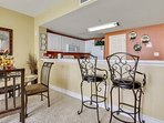 Majestic Beach 1613-Breakfast Bar with additional seating