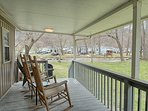 Rocking Chair Porch to Enjoy the Creek