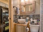 Full bath with tub/shower combination