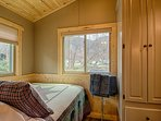 Enjoy the view and sounds of the creek and mountains from the 2nd bedroom
