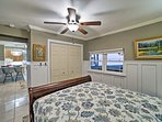 Enjoy a nice cool breeze from the ceiling fan.