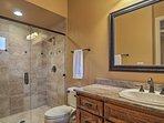 Wash up in the en-suite bathroom offering a walk-in shower.