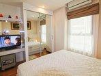 Big bedroom with own TV