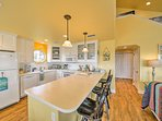 This fully equipped kitchen is sure to please any chef.