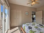 Each bedroom offers plenty of closet space.