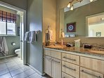 Easily get ready each day at the double vanity!