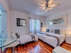 Bedroom with 1 king & 1 twin bed