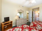 The Guest Bedroom holds two double beds