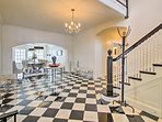 You'll love the marble flooring.