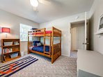 Perfect for kids, this room boasts 2 twin-over-twin bunk beds.