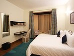 The 4th Bedroom with a double-bed. All rooms have Maspar bed linens