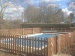 Heated swimming pool.