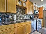 Stainless steel appliances add a bit of luxury to the kitchen.