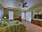 Enjoy easy Sunday mornings with coffee in hand and the news on the flat-screen cable TV in the master bedroom.