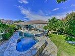 Sneak away for a lavish La Quinta getaway at this vacation rental house!