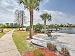 Walk to the private lakefront.