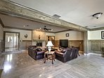 Relax in the spacious living room and watch the flat-screen cable TV.