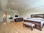 Relax in the spacious master bedroom.
