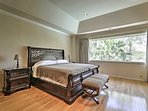 Slip into a restful sleep on the king bed.