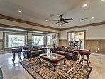 The open-concept layout is perfect for a large family reunion.