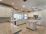 Try out your favorite recipe in the fully equipped gourmet kitchen.