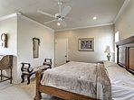 Relax on another comfortable queen mattress in the fourth bedroom.