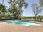 Enjoy swimming in the pool and watch for wildlife in the lake.