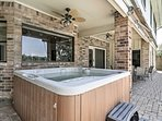 Recuperate in the soothing hot tub.