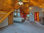 The second master boasts a stunning vaulted ceiling.