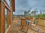 Dine with a view on the furnished balcony.