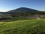 A beautiful view of Mt. Ascutney from the backyard of the farm house.
