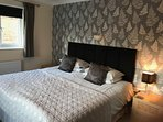 Bedroom 2, as a superking double bed, can also be twin bedded