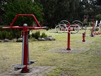 Public Exercise Equipment in Park Opposite