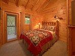 Log Bed Guest Room