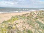Playa arena fina y dunas a 38 metros de la casa
