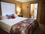Birchs Cal king room with adjoining full bathroom