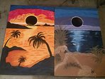 CORN HOLE GAME & my creative painting