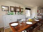 Enjoy family meals in the dining area