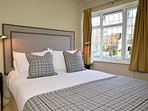 Double bedroom with views across the village green