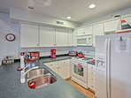 Cook up a new seafood recipe with ease in this fully equipped kitchen!