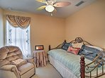 The second bedroom hosts a twin daybed with a twin trundle bed.