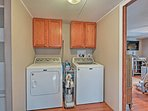 Enjoy the convenience of in-unit laundry machines during your stay.