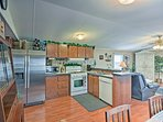 Whip up homemade feasts with modern appliances and ample counterspace.