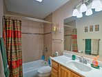 There are 3.5 bathrooms throughout the property.